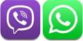 Viber and WhatsUp icons